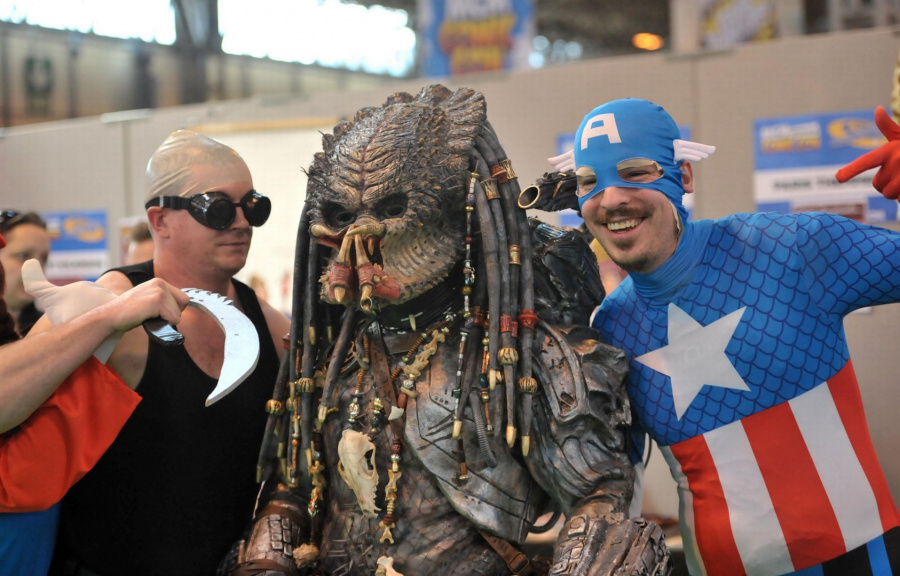 Just three regular guys at a comic con