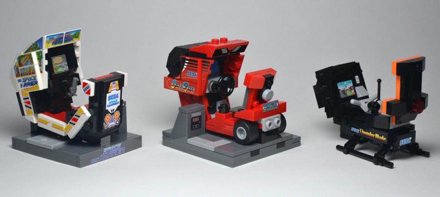 Sega Classic Arcade Machines in Lego