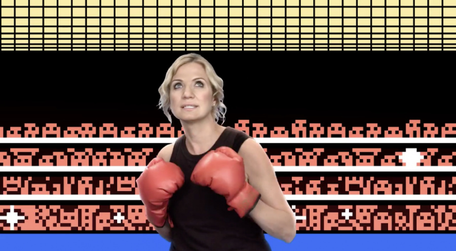 Michelle Beadle's Nintendo Punch-Out Training
