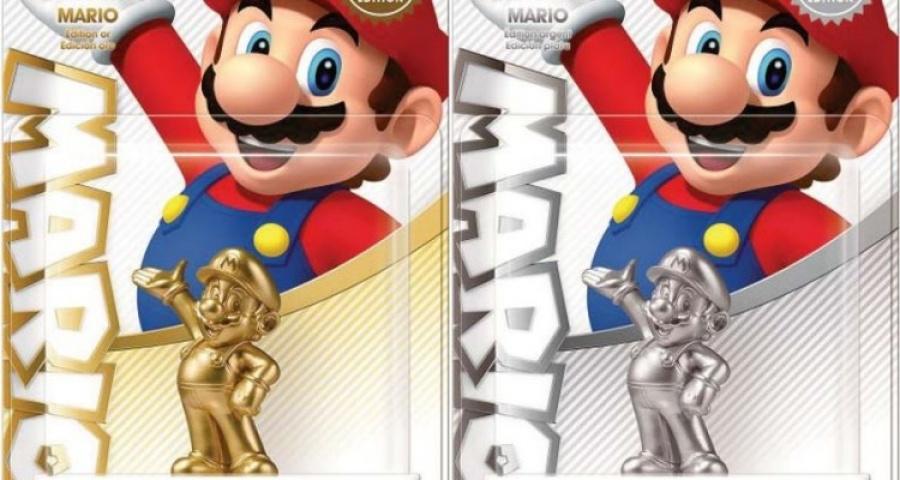 Silver Super Mario Amiibo