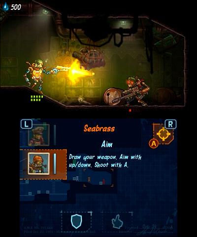 Nintendo 3 DS Steam World Heist Screenshot 3