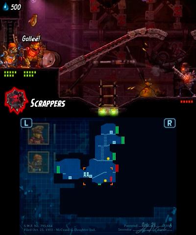Nintendo 3 DS Steam World Heist Screenshot 4