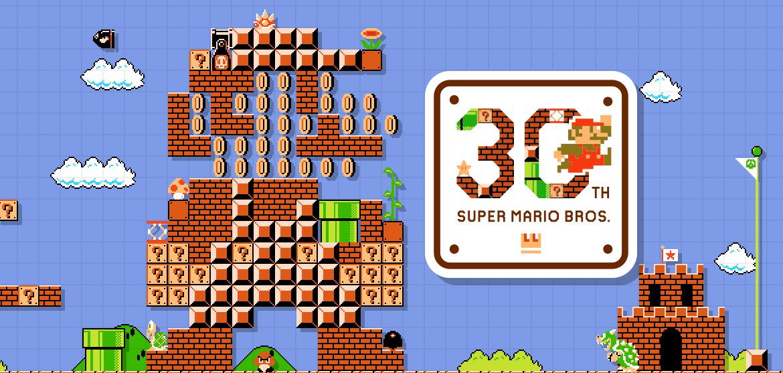 Official super mario bros th anniversary website