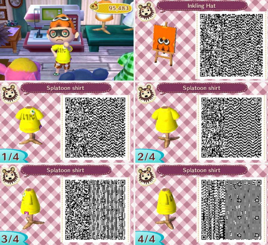 Splatoon Fashion In Animal Crossing New Leaf And Nintendo Of Mesmerizing Animal Crossing New Leaf Sewing Machine Qr Codes