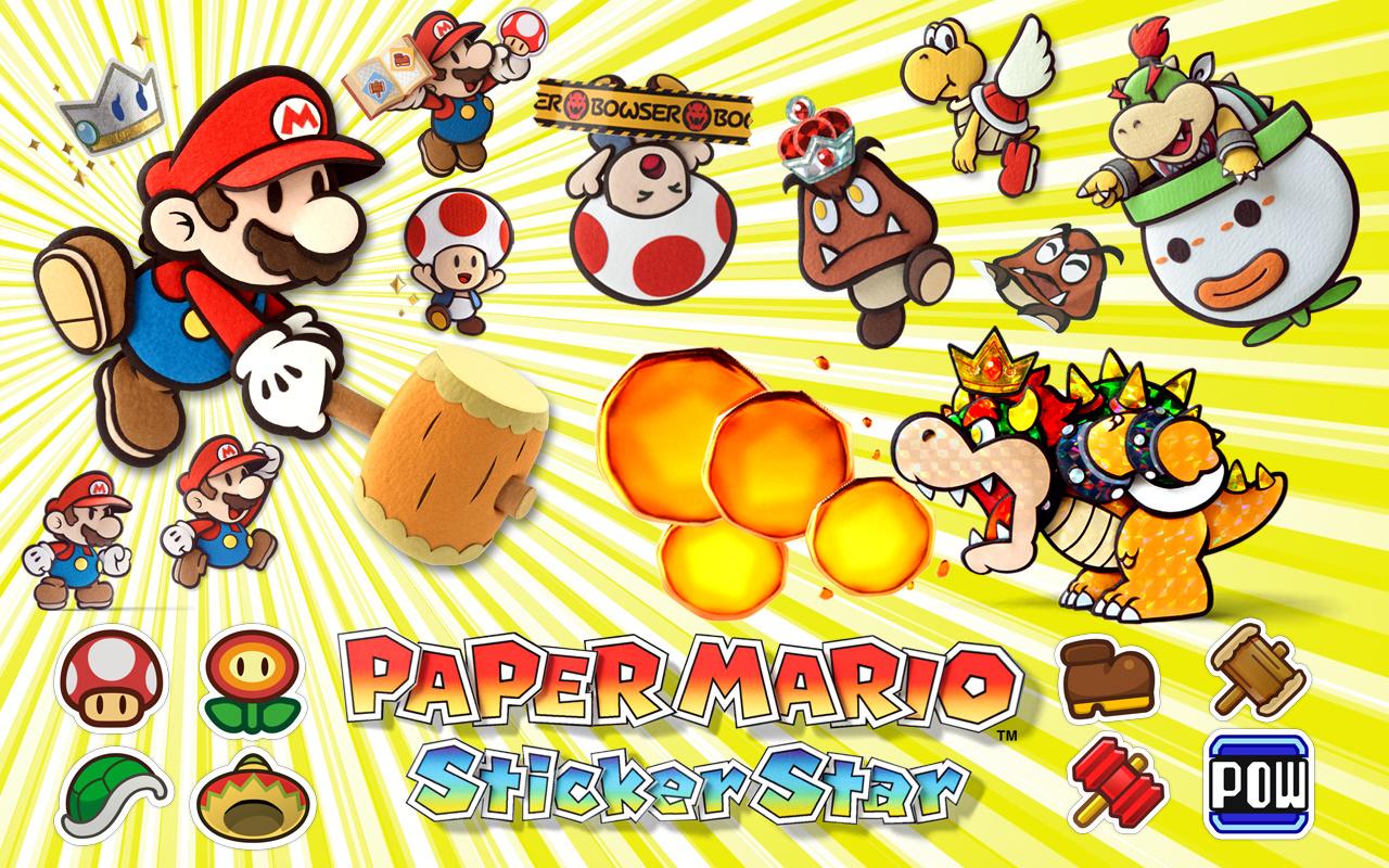 Help paper mario sticker star 100% original papers