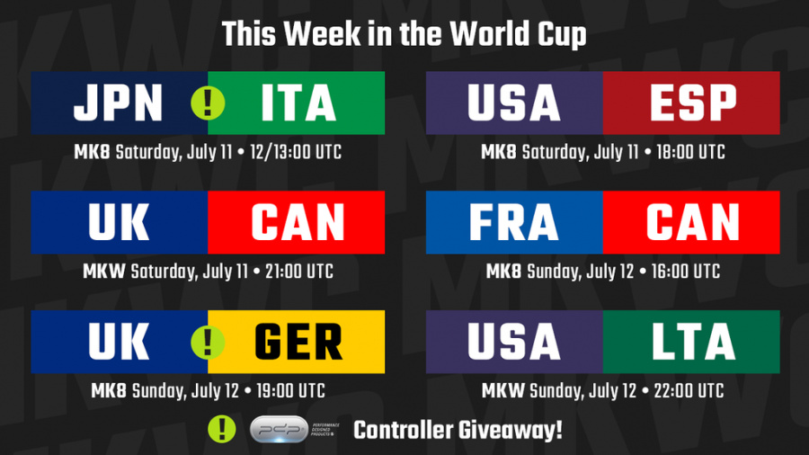 MK World Cup Schedule