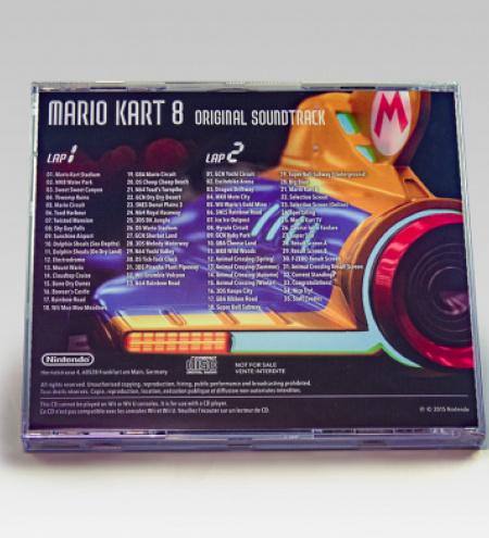 Mario Kart 8 Soundtrack CD - back
