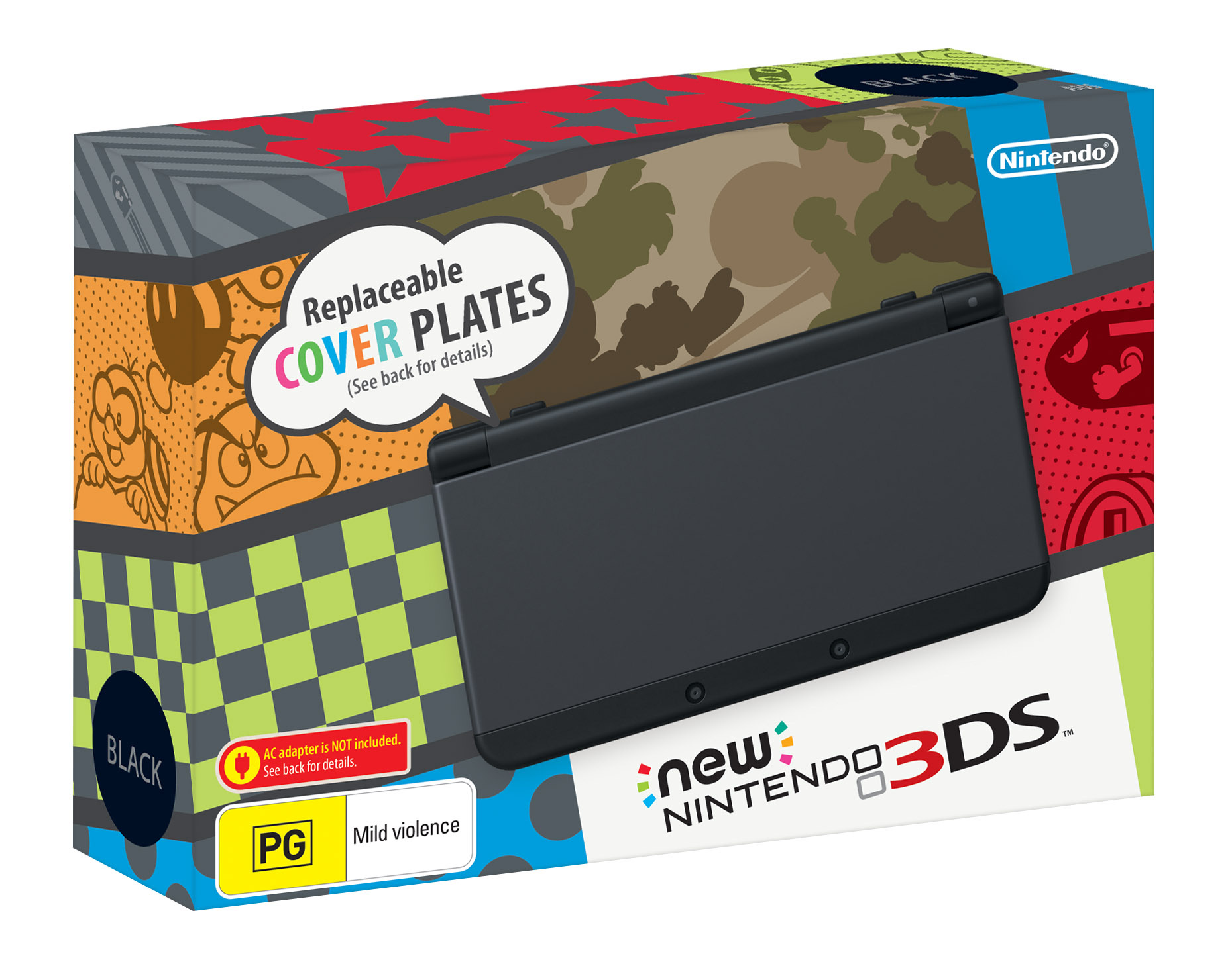 Black New Nintendo 3DS and Animal Crossing: Happy Home ...