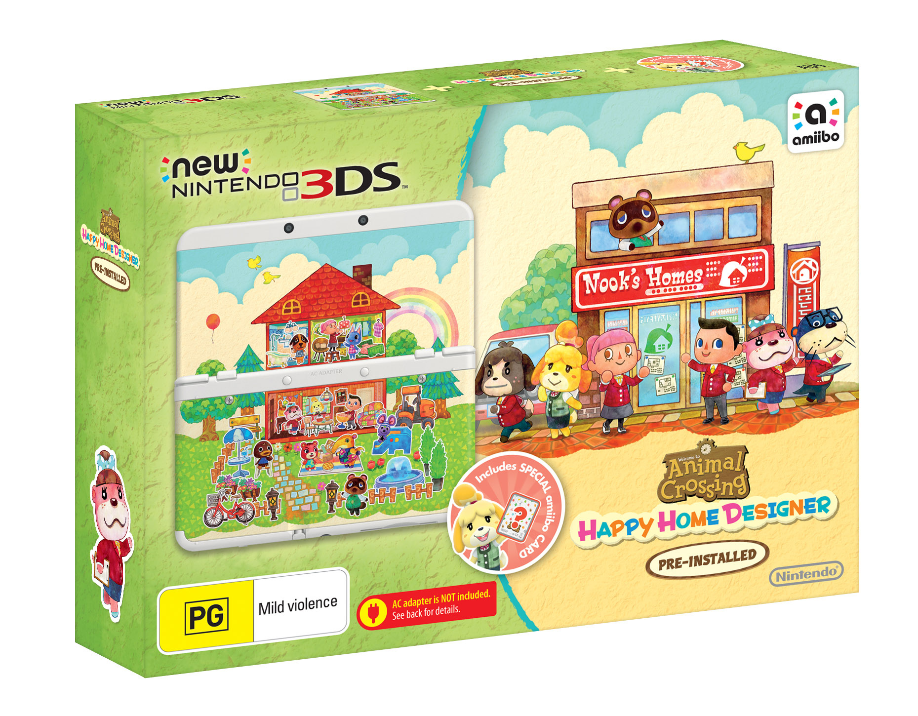 Black New Nintendo 3ds And Animal Crossing Happy Home Designer Bundle Confirmed For Australia