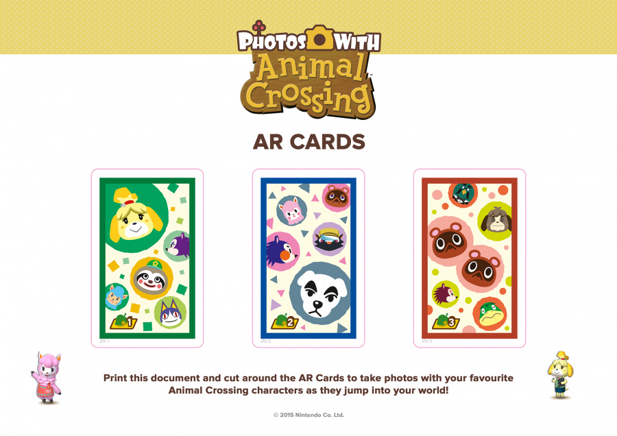 Photos with Animal Crossing - AR Cards (click to enlarge)