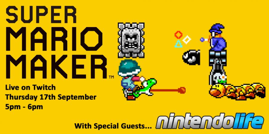 Super Mario Maker Twitch Stream With Nintendo UK