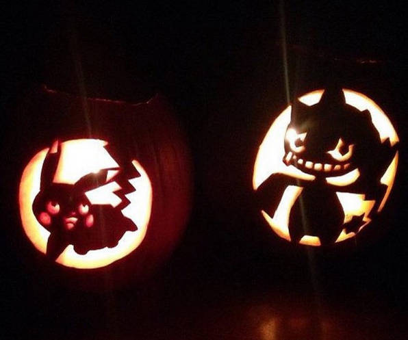 put some boo in your pumpka with halloween pokémon stencils