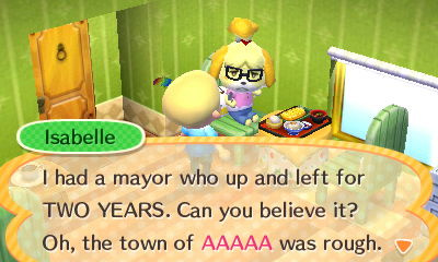 How To Make Pillows In Animal Crossing New Leaf : Random: Isabelle Still Seems Upset At Negligent Animal Crossing: New Leaf Mayors - Nintendo Life