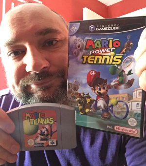 Ben Smith with his favorite Mario Tennis games
