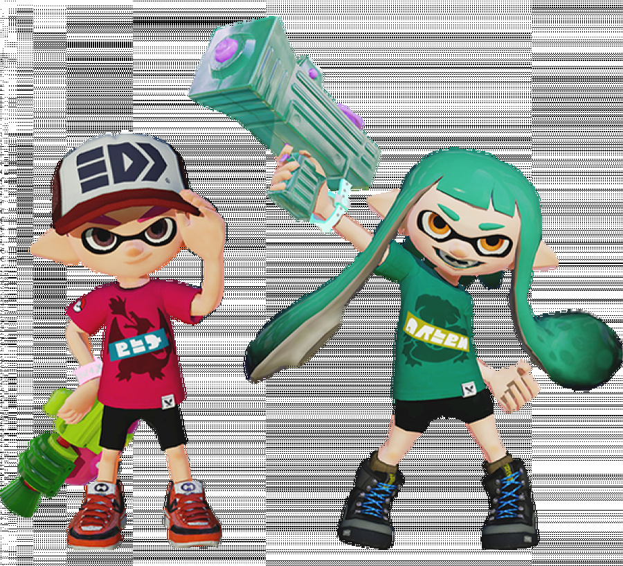 Splatoon Inkling in Pokemon Themed Outfits