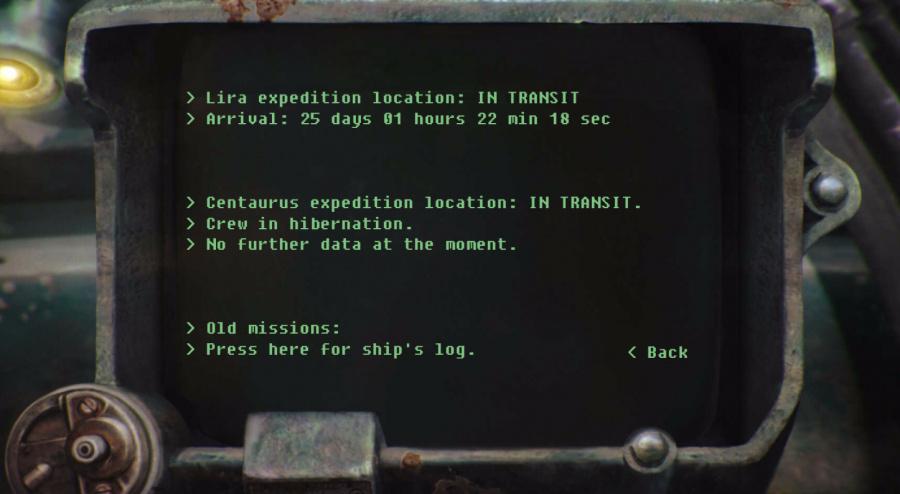 Mission log...