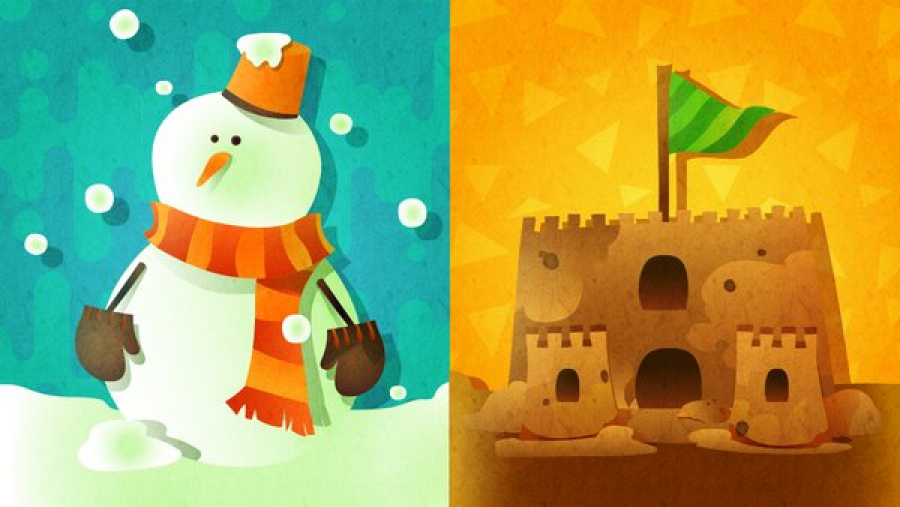 Snowman or Sandcastle?