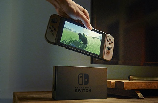 Use the Switch Console or the TV, not both