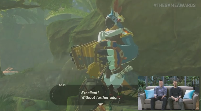 Prior to the surprise appearance of Switch on the Jimmy Fallon show, the Wii U version of Breath of the Wild was shown during The Game Awards