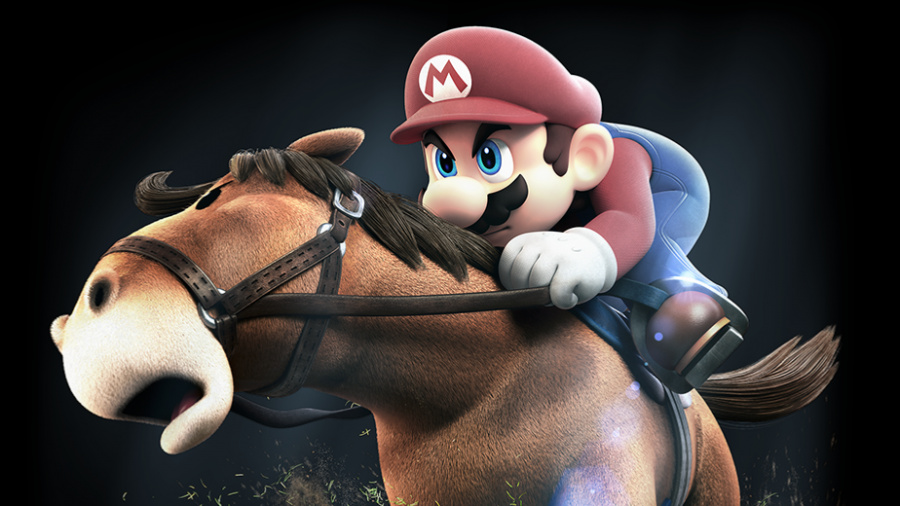Mario on horseback