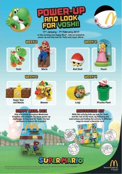 Super Mario McDonald's UK Happy Meal Toys Revealed ...