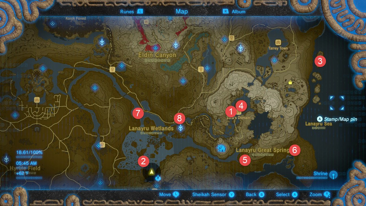 The Legend Of Zelda Breath Of The Wild All Shrine Locations