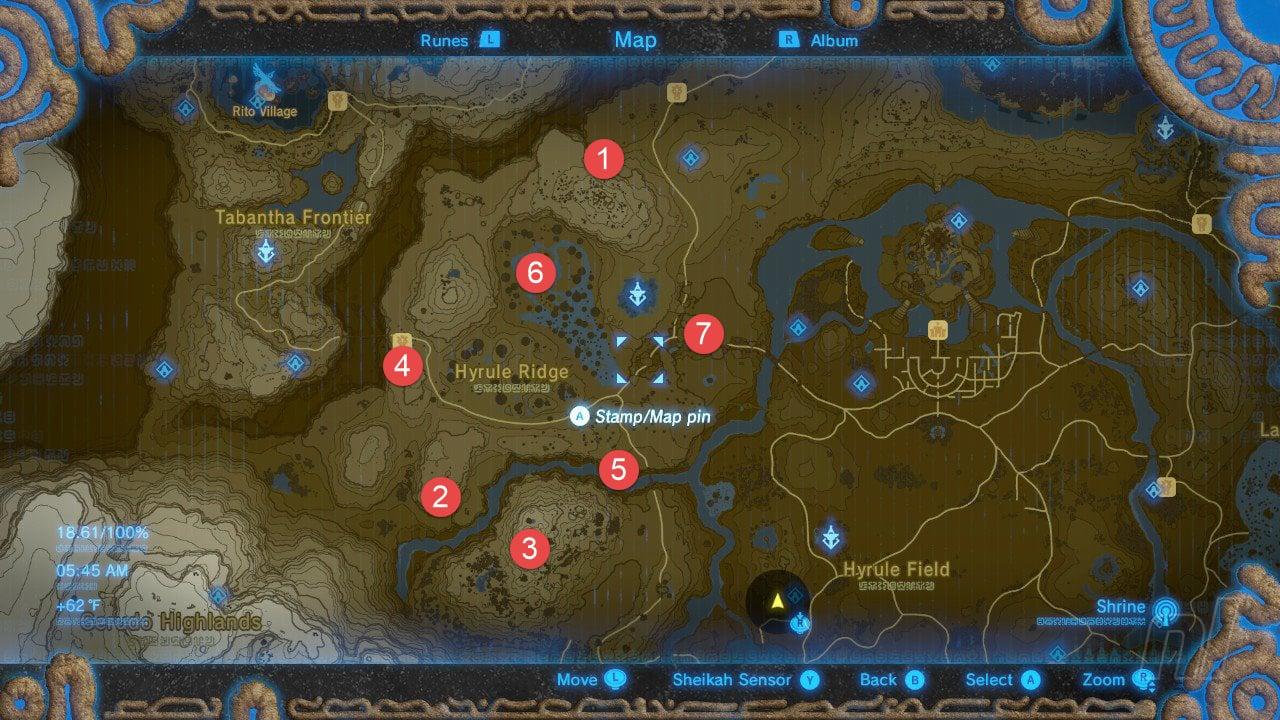Hyrule Ridge Tower Map