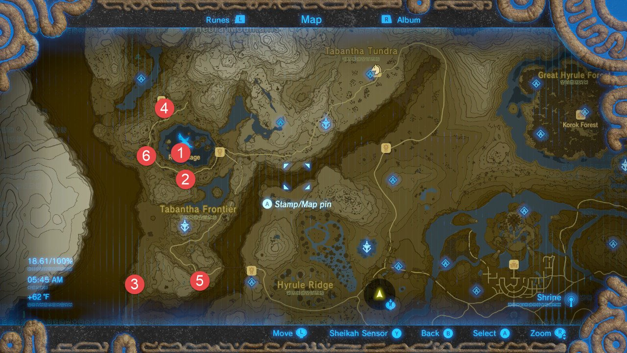 Zelda: Breath Of The Wild All Shrine Locations Walkthrough