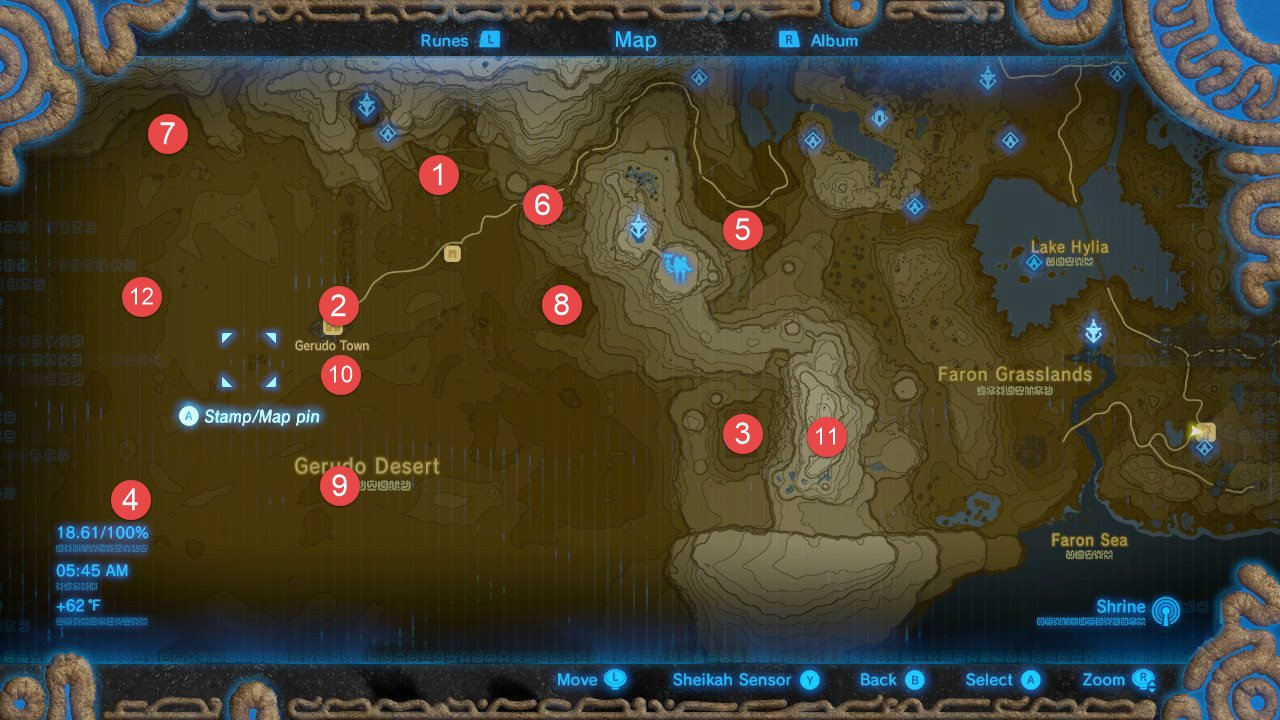 photo about Printable Korok Seed Map called Zelda: Breath Of The Wild All Shrine Places Walkthrough