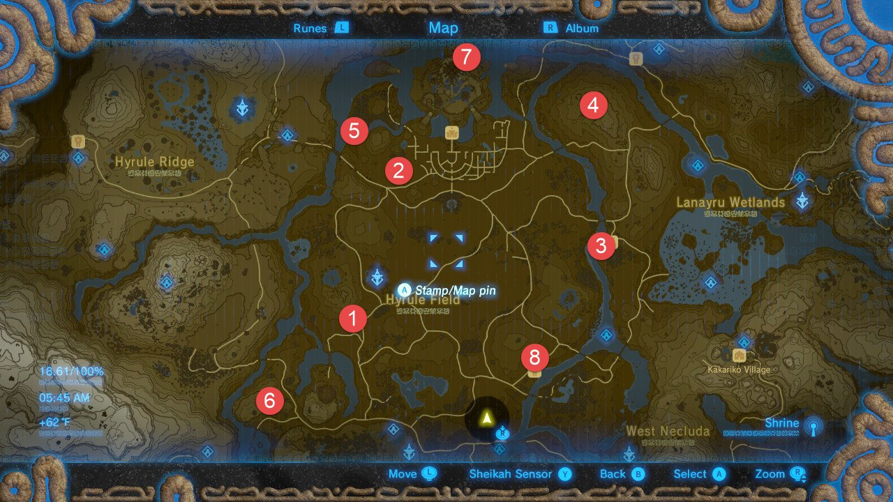 Central Hyrule Tower Map