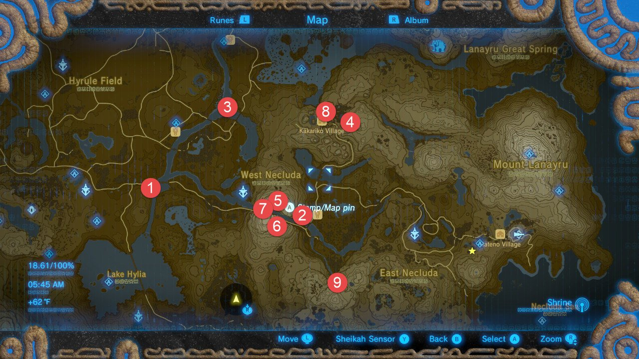 Zelda: Breath Of The Wild All Shrine Locations Walkthrough And Map on skyward sword map, wind waker map, star wars map, smash brothers map, harvest moon map, kingdom hearts map, minecraft map, mario world map, hyrule map, super mario map, zilla map, castlevania 3 map, gta map, castlevania 2 map, pokemon map, metroid map, oracle of ages map, ocarina of time map, mario kart map, ikana map,