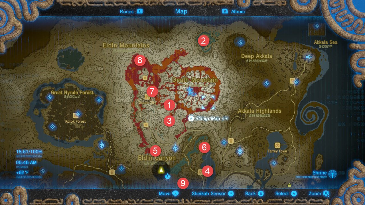 Eldin Mountains Tower Map