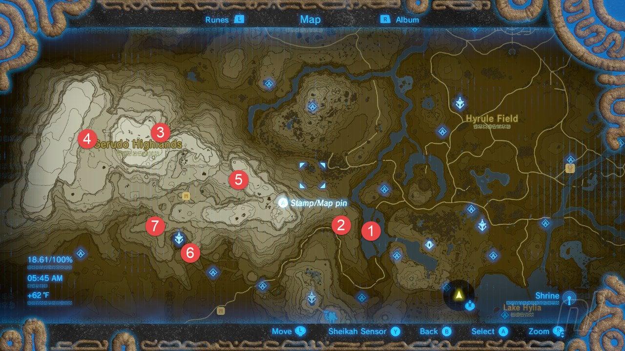 Gerudo Highlands Tower Map