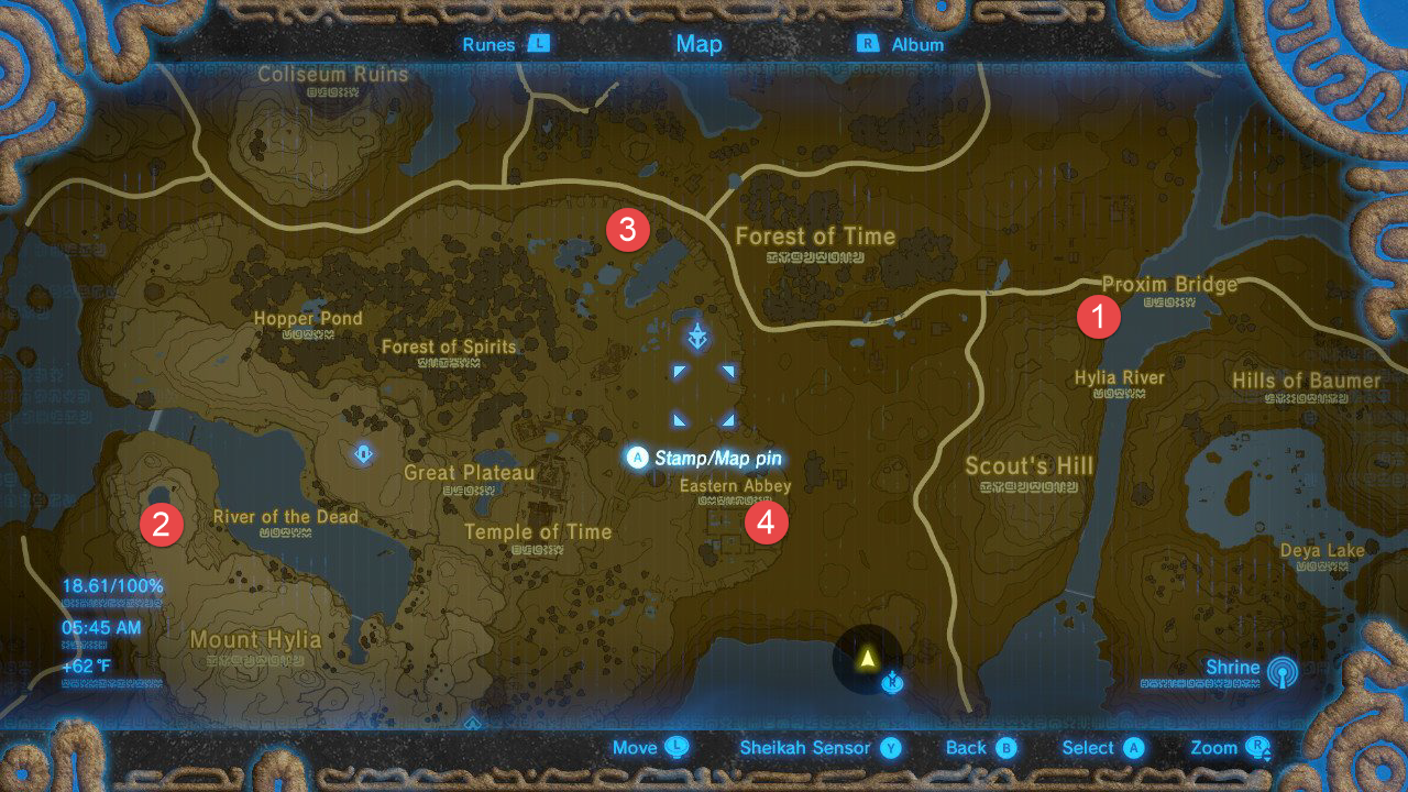 Great Plateau Tower Map