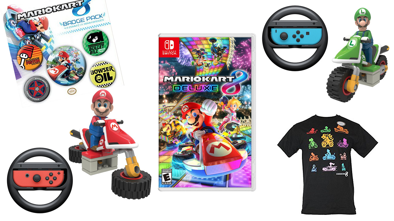 deals get in the race with these mario kart 8 deluxe accessories and more nintendo life. Black Bedroom Furniture Sets. Home Design Ideas