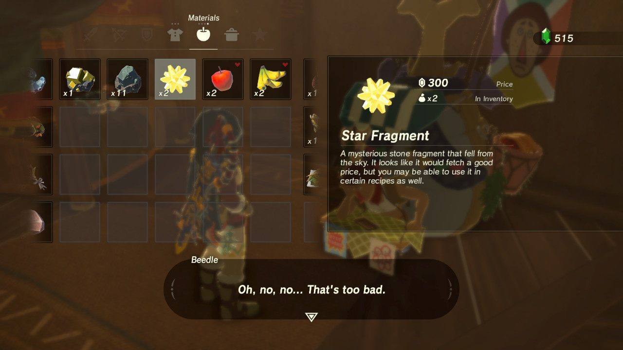 Zelda: Breath Of The Wild: What Star Fragments Are Used For