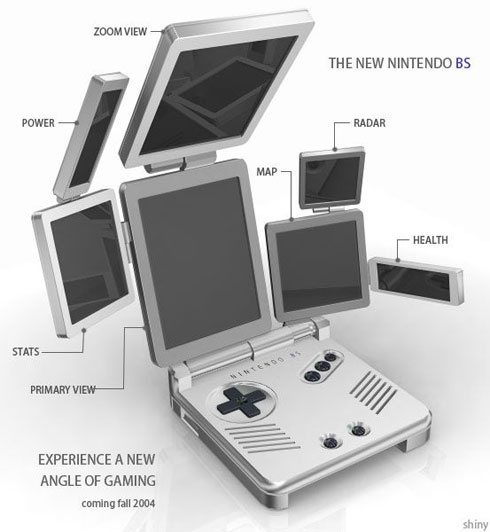 Mock-ups such as this one appeared during 2004, poking fun at the concept of the DS
