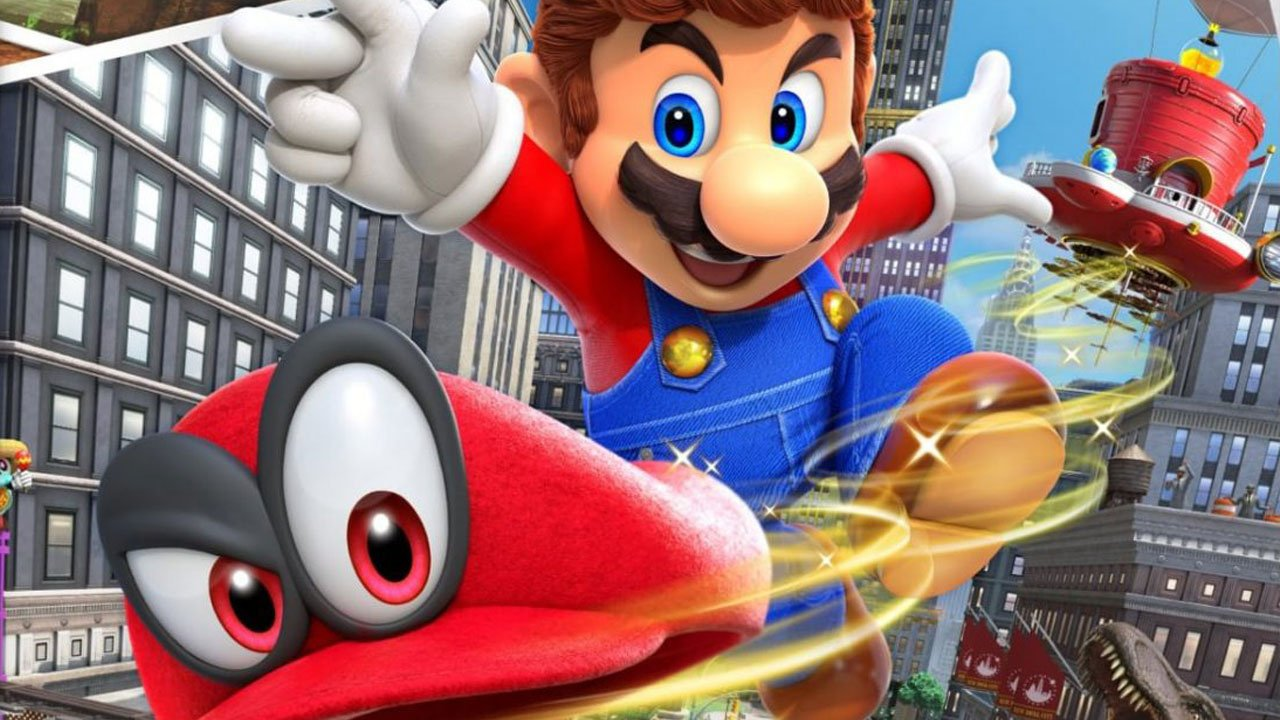 First impressions beginning our journey with super mario for Super mario odyssey paintings