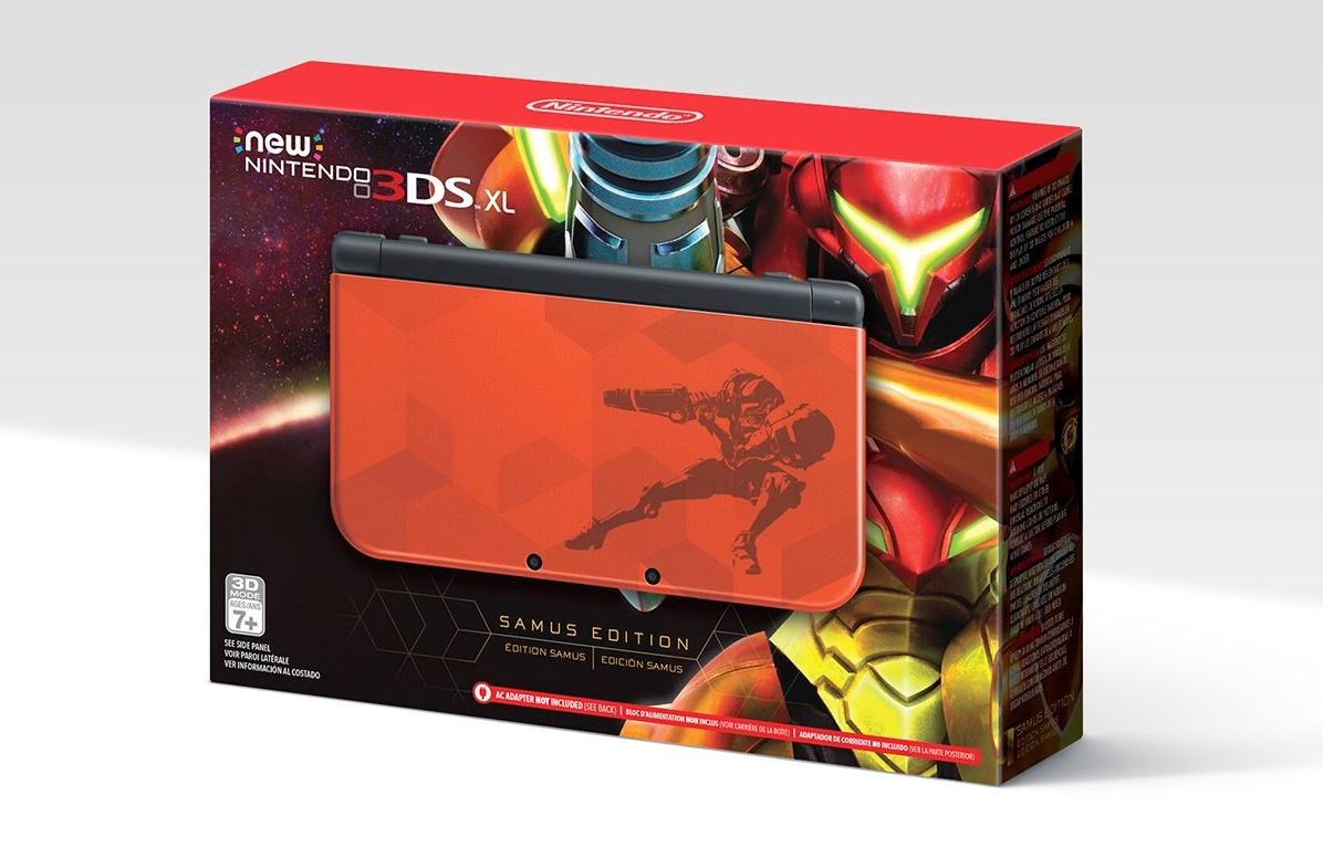 nintendo unveils gorgeous samus edition new nintendo 3ds xl nintendo life. Black Bedroom Furniture Sets. Home Design Ideas