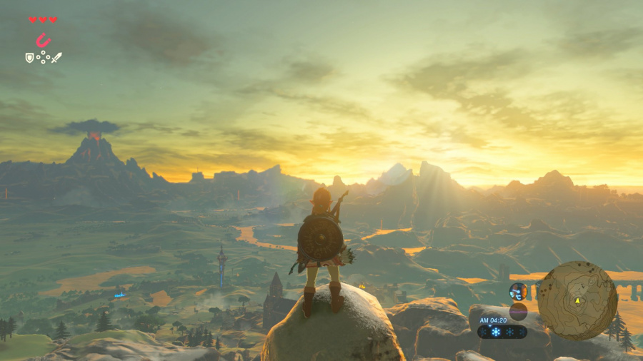 Zelda: Breath of the Wild has a modest file size considering the scale of the game