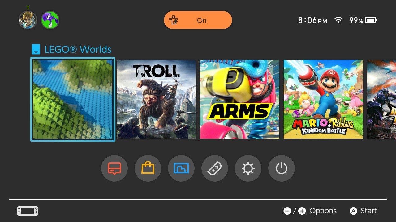 Random: This Minimalist Lego Worlds Switch Icon Isn't Exactly a Chip