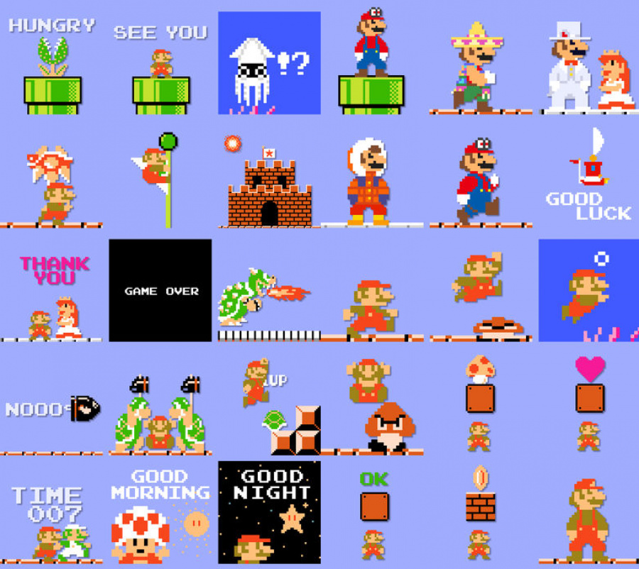 Delight your friends by sending them 8 bit super mario - Pictures of 8 bit mario ...