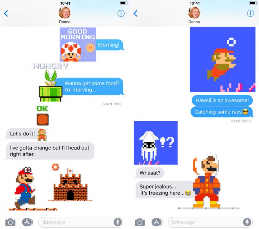 8-bit Super Mario Stickers