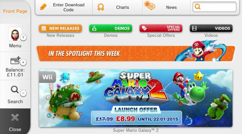 It's about as fast as 50cc in Mario Kart, but the Wii U eShop is full of colour and useful categories