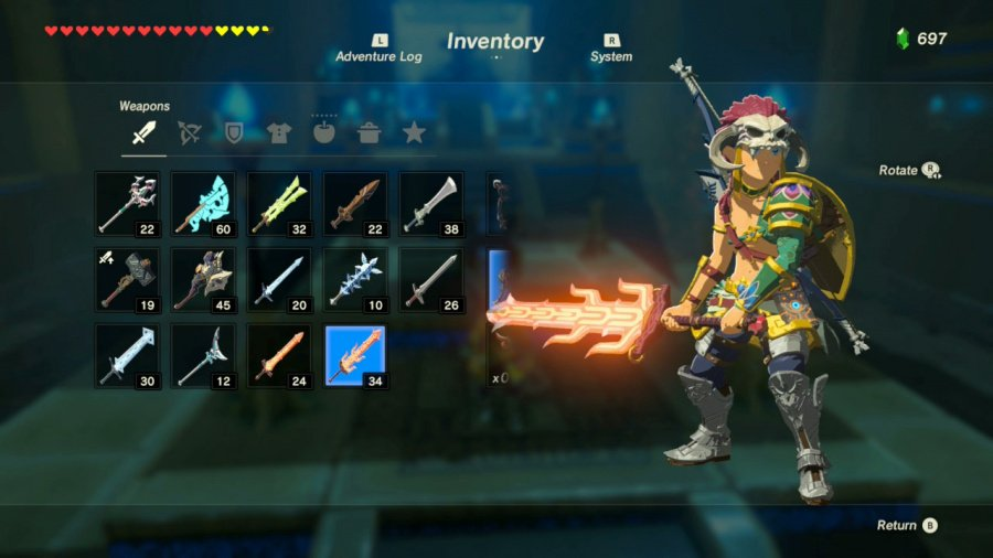 Many weapon and armor options allow you to be the Link you want to be