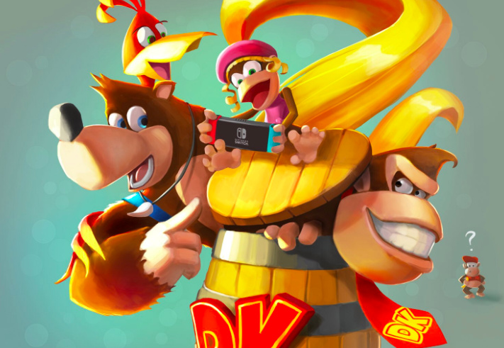 Image result for donkey kong banjo kazooie crossover