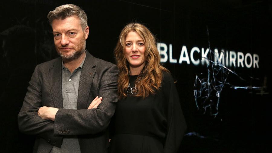 Brooker with executive producer Annabel Jones