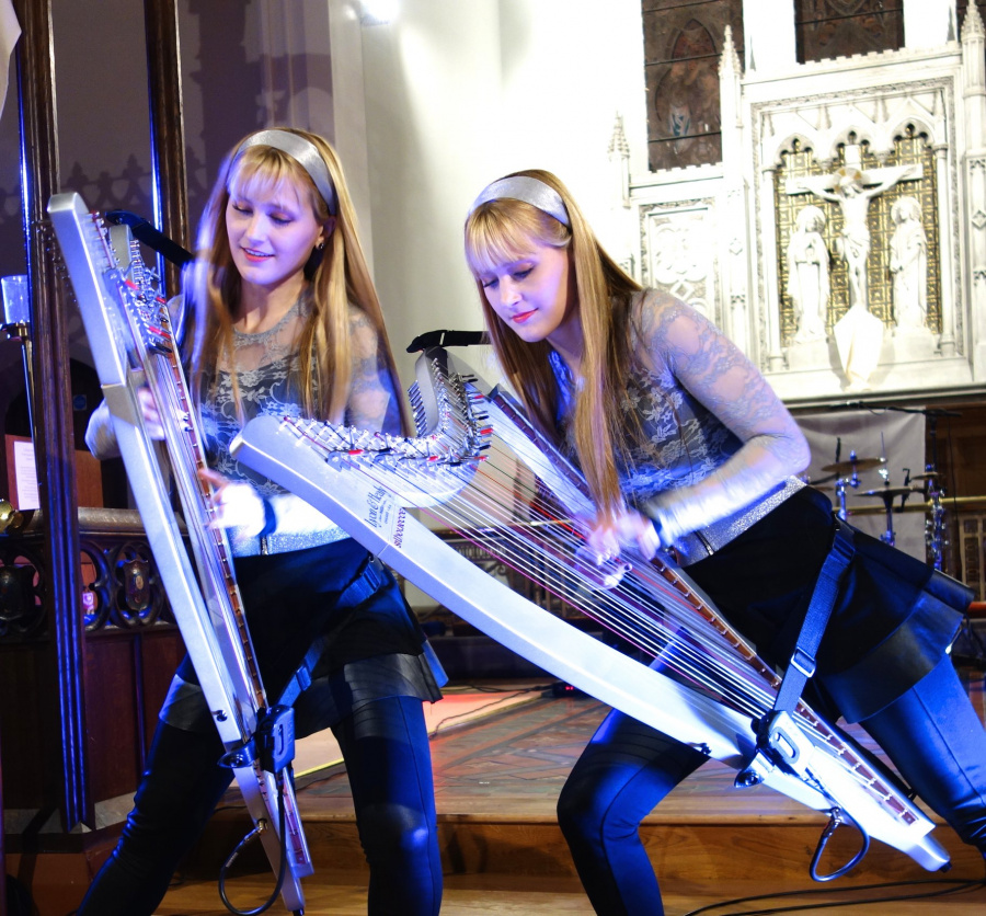 The Harp Twins live in Telford, UK