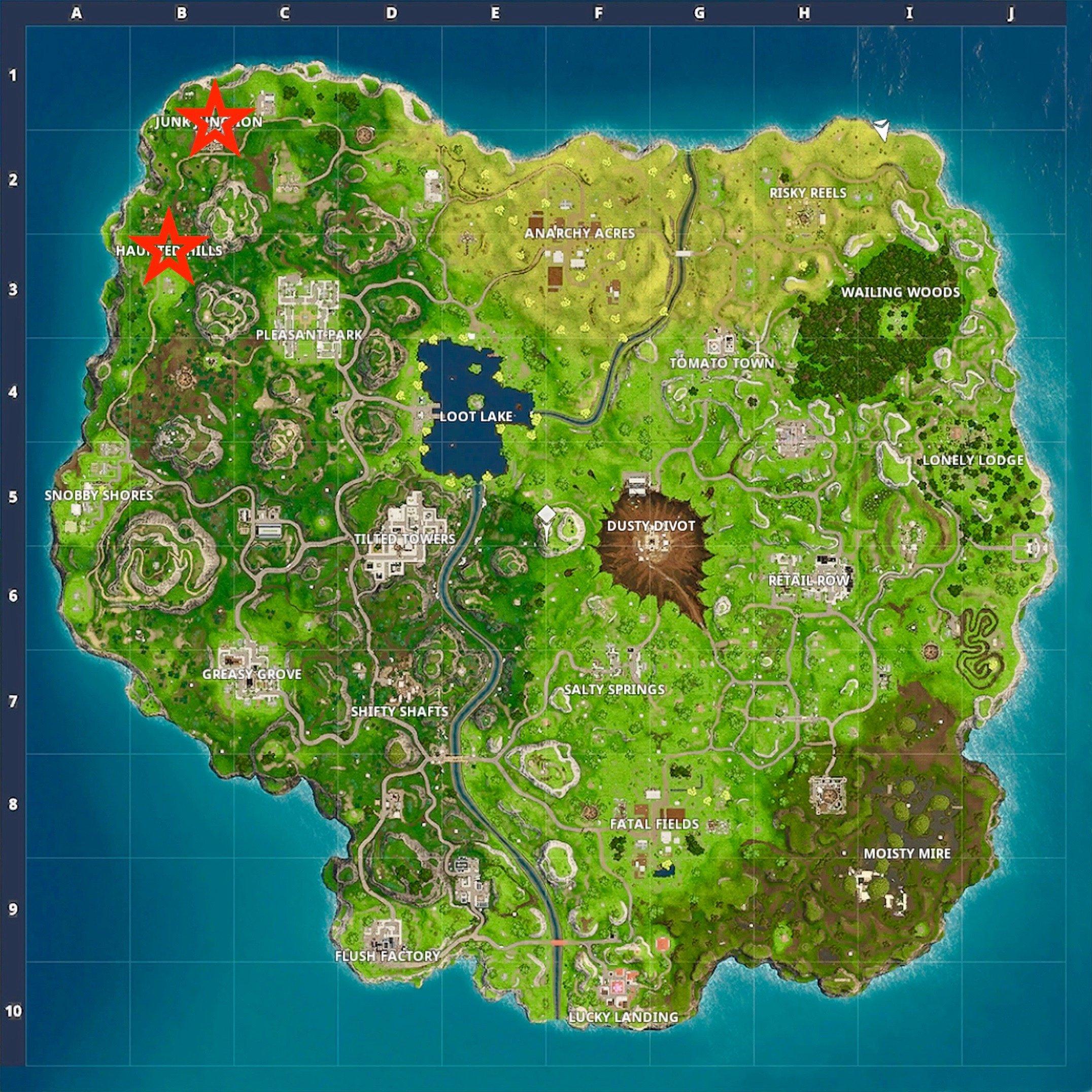 fortnite map jpg - fortnite junk treasure map