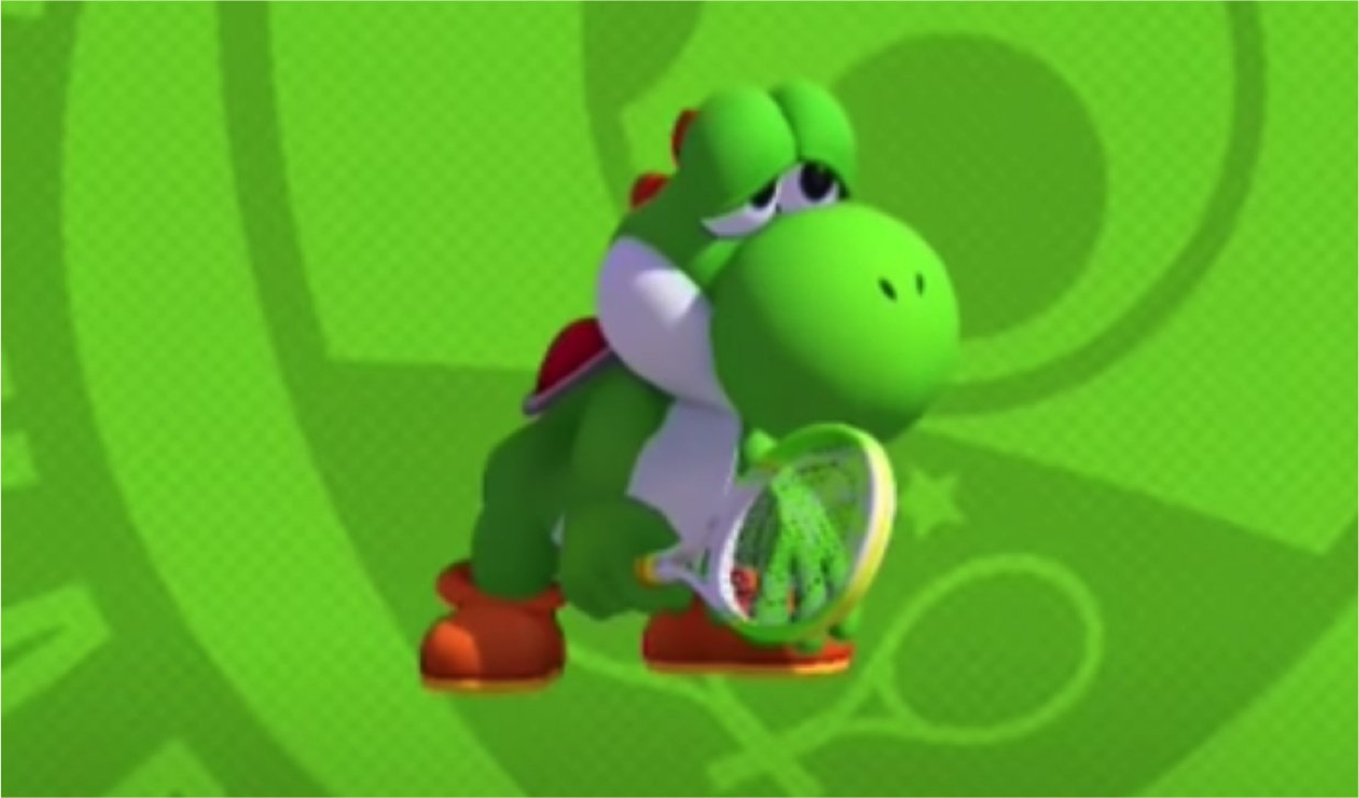 Weirdness The Internet Cant Deal With Yoshis Sad Mario Tennis